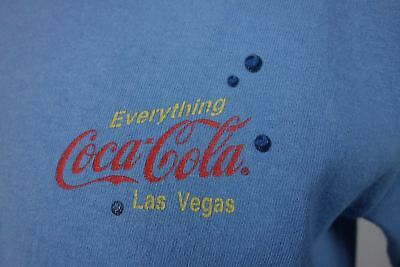 Everything Coca-Cola Mens Sm T-Shirt Las Vegas 3-D Bubbles Made in USA