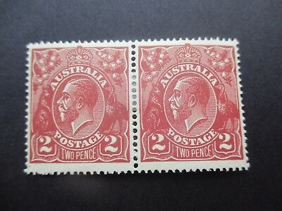 KGV Stamps: 2d Brown Pair MH - Great Item (4392)