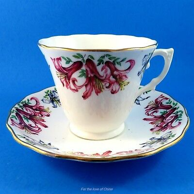 Lovely Colclough Day Lily Tea Cup and Saucer Set