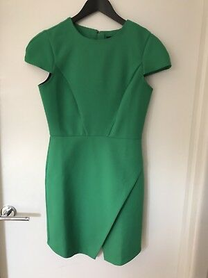 ASOS Green Mini Shift Dress With Cap Sleeves Size 10