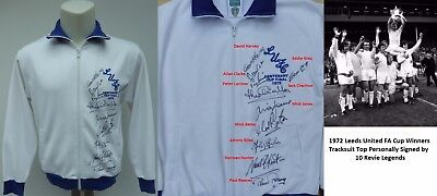 1972 Leeds United FA Cup Winners Multi Signed Tracksuit - Revie Legends (11461)