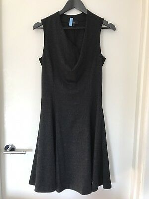 Saba 100% Merino Wool Grey Sleeveless Dress Size 8