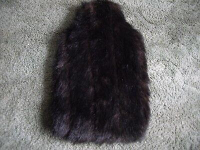 Brown Furry Hot Water Bottle Cover and Orange Hot Water Bottle