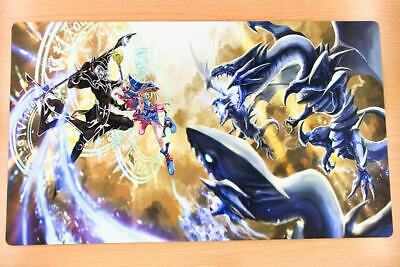 F2164 Free Mat Bag Dark Magician Dark Magician Girl Yugioh CCG Playmat Game Mat