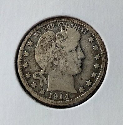 1914-D and 1915-D Barber quarters - VF and Fine