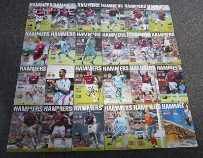 2004-05 West Ham United Signed Official Programmes £2 Each