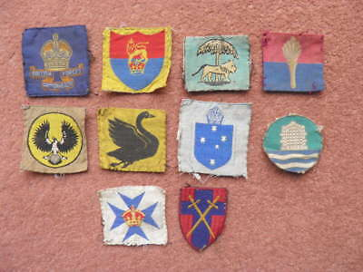 10 x Military CLOTH FORMATION / COMMAND BADGES WW2