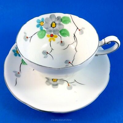 Very Old Royal Paragon Painted Floral  Tea Cup and Saucer Set