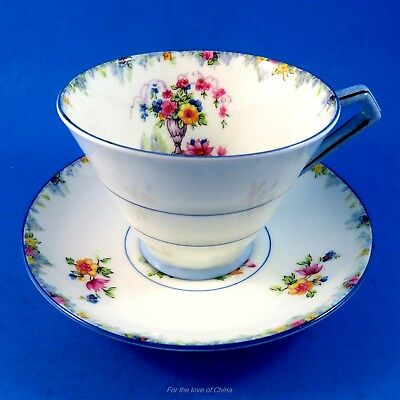 Art Deco Floral Vase Star Mark Paragon Tea Cup and Saucer Set
