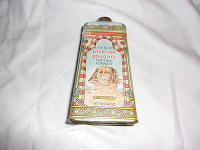 Vtg Watkins Egyptian Bouquet Dusting powder tin