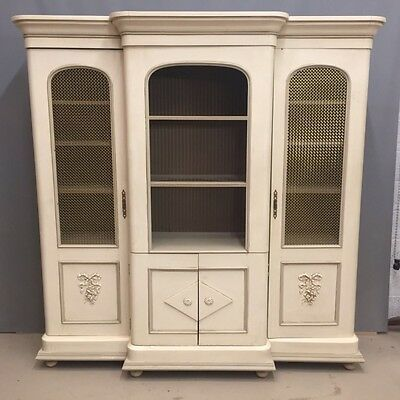 PAINTED BREAKFRONT VICTORIAN BOOKCASE OR MEDIA CABINET  Ref a14709