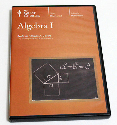 Algerbra 1 - The Great Courses - 36 Lectures - 30 mins each RRP $429