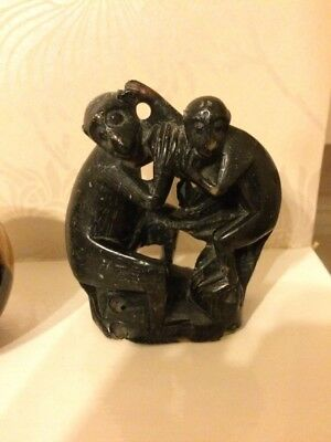 Soap Stone Carved Monkeys