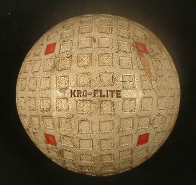VINTAGE SPALDING 1930'S KRO FLITE GOLF BALL SQUARE MESH RED DOTS antique