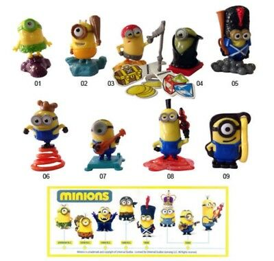 Kinder Surprise Minions Despicable Me Ferrero Cake Toppers Figures Bob Kevin Gru