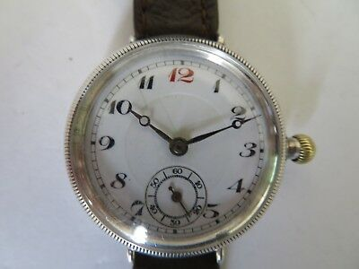 vintage wristwatch Borgel , trench watch, silver, boxed