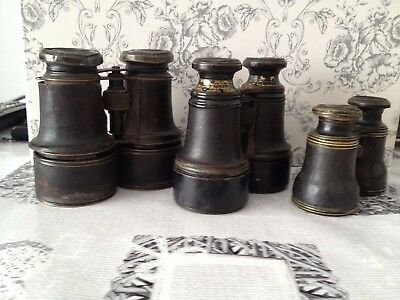 antique binoculars x3