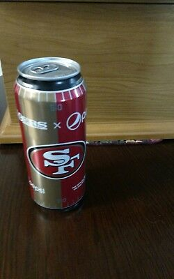 Nfl San  Francisco 49ERS 16  oz Pepsi Can football new collectible