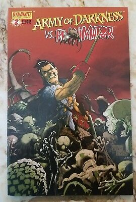 Army Of Darkness Vs Re-Animator (2005) #2 Nm A Tan Variant Dynamite Comic 1