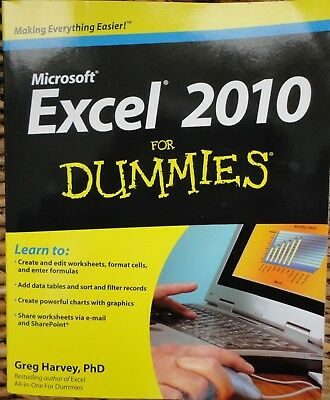 """Microsoft Excel 2010 for Dummies - In """"New"""" Condition"""