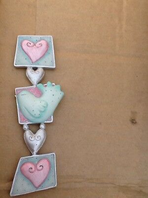 Job Lot of 48 Hearts & Dove Small Plaque for Craft / Wedding Favours