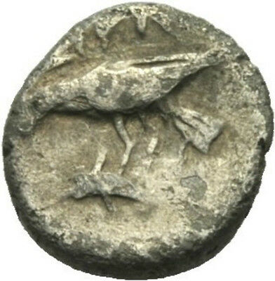 Ancient Greek Moesia Istros Quarter Drachm Eagle Dolphin Silver Coin Very Rare