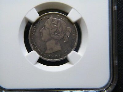 NGC VF35 1899 SILVER NEWFOUNDLAND 20 CENTS LARGE 99 auctiond10