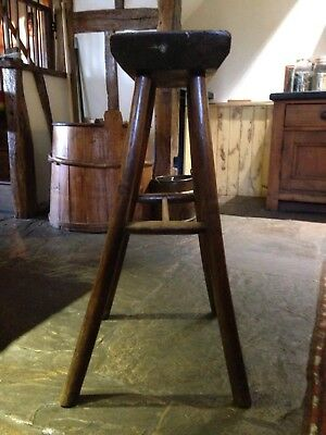Antique Oak Bench Stool