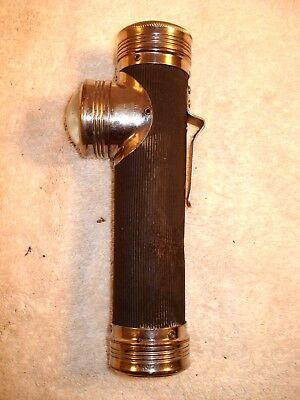 Rare Circa 1924 Bond Electric Co. Bell Systems Right Angle Fish Eye Flashlight