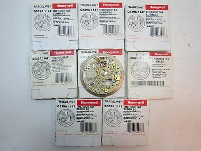 Lot of 8 Honeywell Q539A1147 Taupe Heat-Off-Cool Thermostat Subbases NEW