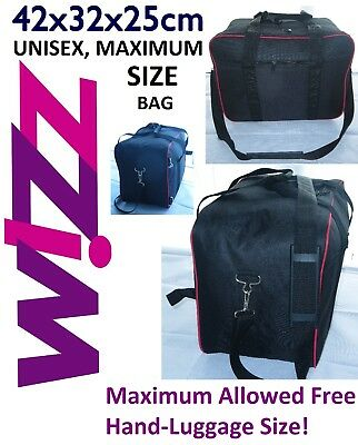 Wizz Air Small Hand Luggage Travel Cabin Bag light 42x32x25cm 34 litre Free P&P