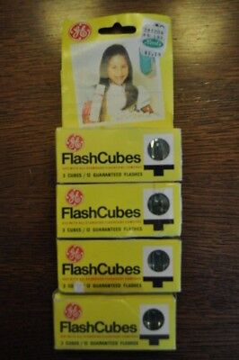 GE Vintage Flashcubes 3 Cubes in Each Box (4 Boxes Total)