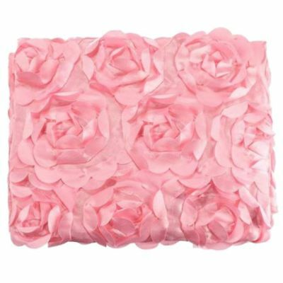 SS Baby Newborn 3D Rose Flower Photography Photo Prop Backdrop Rug Blanket Pink