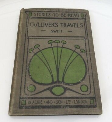 Gulliver's Travels Blackie Arts & Crafts cover - ? Talwin Morris design 1908