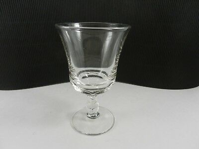 """Fostoria Glass Century Water Goblet Clear Crystal 6"""" T ca 1950-1982"""