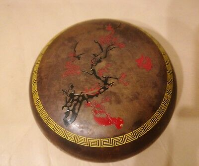 really nice antique chinese Bronze  ink box pot.