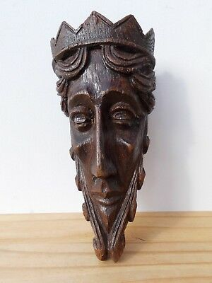 Antique Gothic Corbel of a King possibly Oak