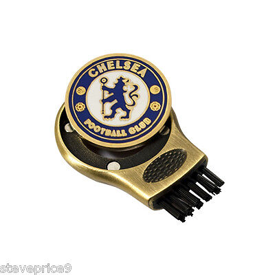 Chelsea Fc Gruve Cleaner And Golf Ball Marker. Groove Cleaning Brush