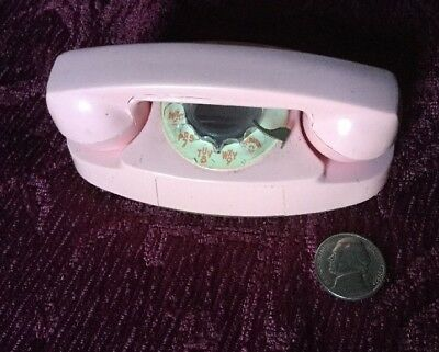 Rare Little Princess Phone In Pink Advertising Like Real Removable Handset