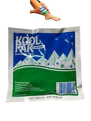 Koolpak Small Instant Sports Ice Pack First Aid Muscle Sprains Back Injury Wrap