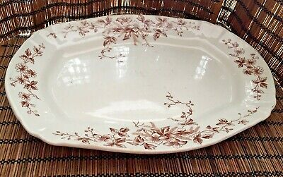 Antique F. Winkle & Co England Serving Platter pre-1910 Victorian Aesthetic