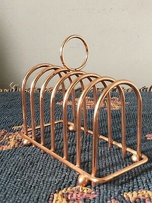 Vintage Copper plated toast rack Collectible Quirky