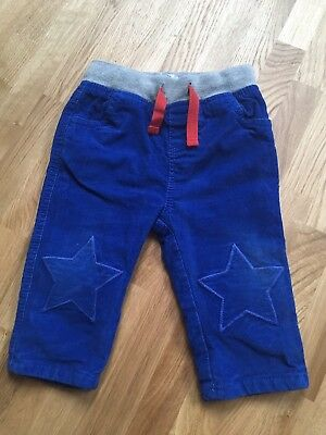 Baby Boden Boys Blue Cord Trousers Size 6-12 months FREE PP