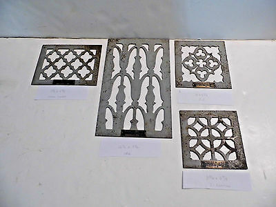 4 Vintage Hendrick Manufacturing Grille Vent Design Salesman Samples Ornate