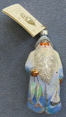 Patricia Breen Christmas Ornament Santa Fish Sailboats Art Institute Chicago