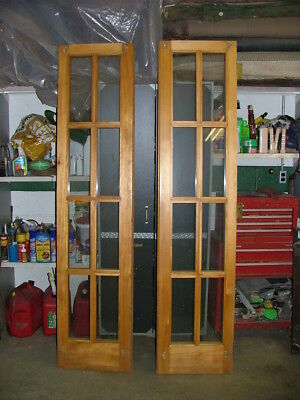 Pair Vintage French Doors With Great Brass Hardware