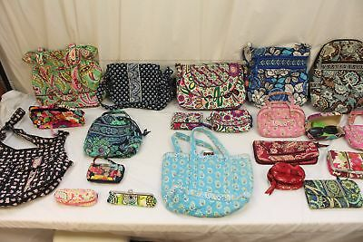 Lot of 21, Vera Bradley, Women's Purses, Bags, Glasses, Wear Or Craft.