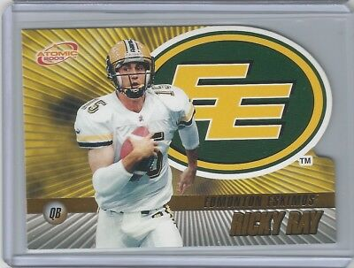 Edmonton Eskimos 2003 Pacific Atomic Gold CFL #34 Ricky Ray 116/175