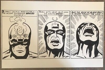 Cover Recreation - Fantastic Four 59 page 11- Black Bolt - Jack Kirby Tribute