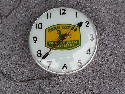 Beautiful John Deere Quality Farm Equipment Lighted Clock